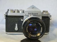 '        1960 Nikon F -VERY EARLY-RARE-' Nikon F 1960 SLR Camera c/w Plain Prism, Hollow Winder+50MM 1.4 Scalloped Lens-VERY RARE EARLY CAMERA-£499.99